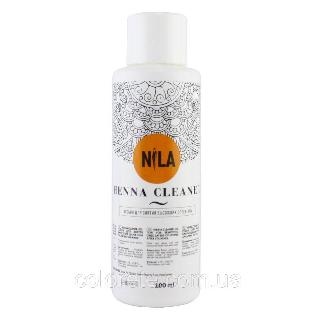 NILA Henna Cleaner Лосьон для снятия высохших слоёв хны, 100мл.