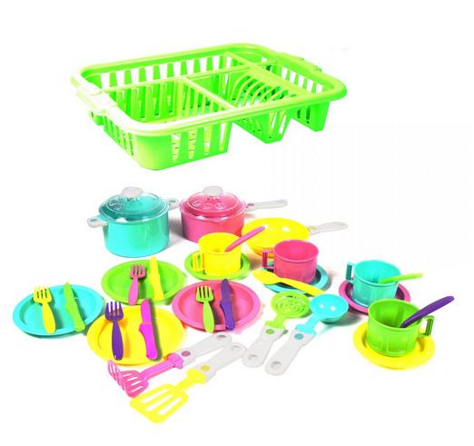 Набор игрушечной посуды.Детский набор посуды для еды.