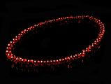 Бусы из янтарной смолы,гранатового цвета 10мм, фото 2