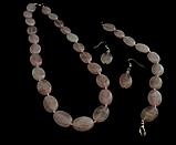 Набор из розового кварца ,овал, фото 2