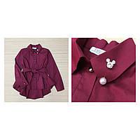 """Стильная  рубашка """"Микки""""для девочки код 0153 (р.122-152)"""