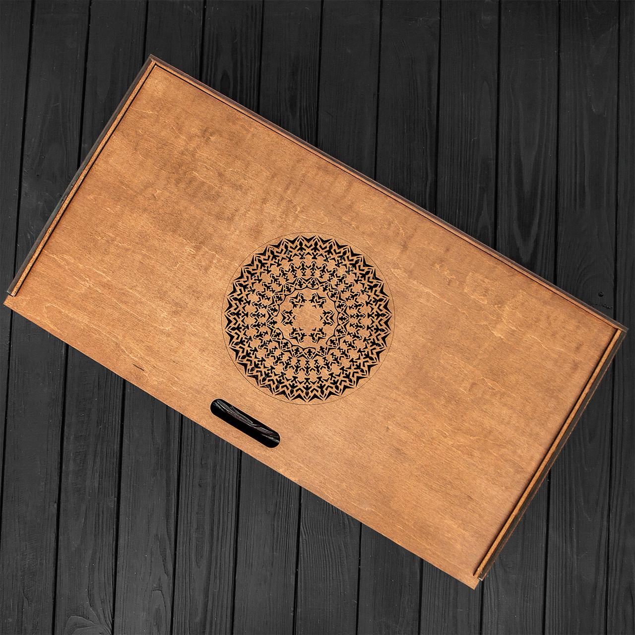 Подарочная коробка для хранения нард, шахмат, шашек