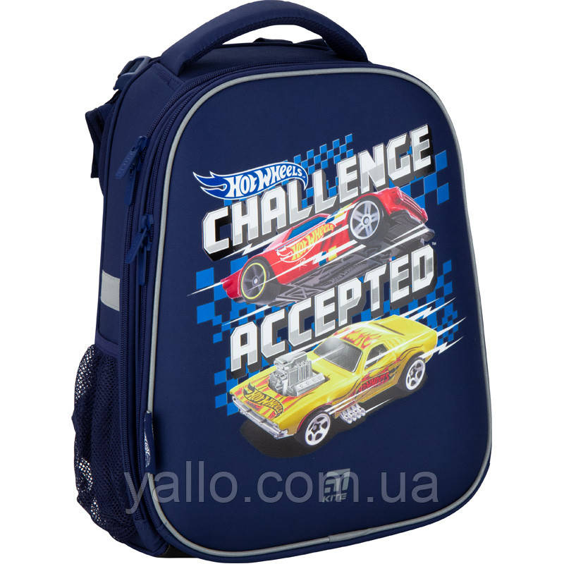 Рюкзак школьный каркасный ортопедический Kite Education 531 Hot Wheels, для мальчиков, синий (HW20-531M)