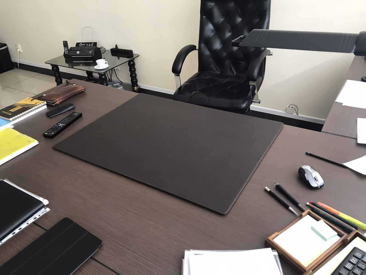 Подложка на стол Индиана Экокожа 400 х 600 мм тёмно-коричневая