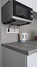 Кронштейн для микроволновой печи HEAVY DUTY (комплект, черный) . ТМ Кольчуга (Kolchuga), фото 3