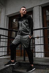 Мужской спортивный костюм Weary Nike найк черный серый РАСПРОДАЖА Размер ХS