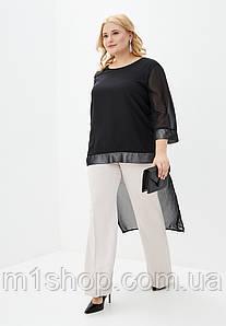 Женская шифоновая асимметричная блузка больших размеров(Селфи lzn)