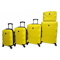 Чемодан Borno 2019 набір 5 штук жовтий
