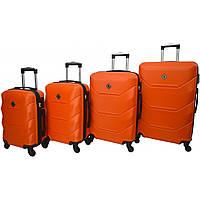 Чемодан Borno 2019 набор 4 штуки оранжевий