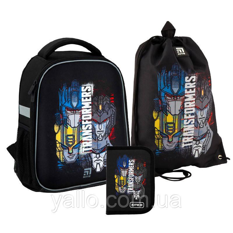 Школьный набор Kite Transformers рюкзак пенал сумка для обуви SET_TF20-555S