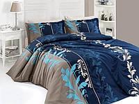 Комплект постельного белья турция First Choice. Satin Синий - Евро 7461, фото 1