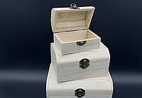 Шкатулка прямоугольная заготовка из дерева для декупажа и творчества 105х70х60 мм не полностью шлифованная