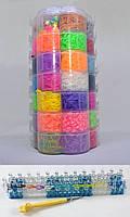 Набор резинок для плетения браслетов большой 7 ярусов Цветок 19000 резиночек с профессиональным станком