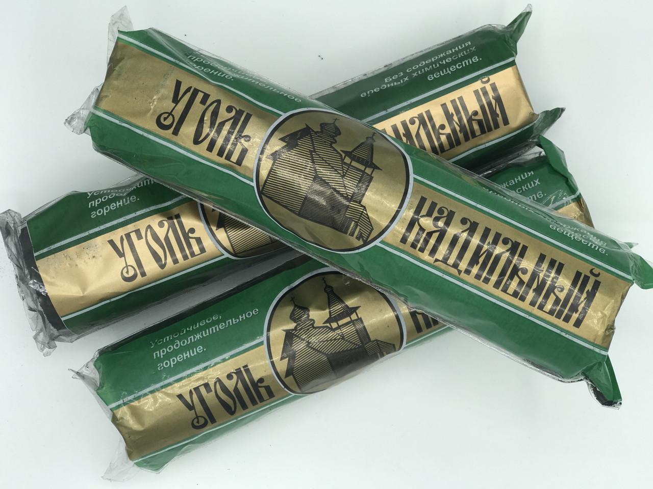 Уголь кадильный зелёный 50 мм