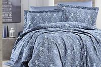 Комплект постельного белья турция First Choice. Satin Светло синий- Евро 7465, фото 1