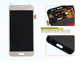 Модуль (дисплей + сенсор)для Samsung Galaxy J5 J500F/DS, J500H/DS, J500M/DS AMOLED золотий, фото 2
