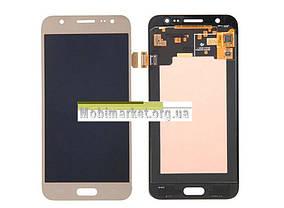 Модуль (дисплей + сенсор)для Samsung Galaxy J5 J500F/DS, J500H/DS, J500M/DS AMOLED золотий, фото 3