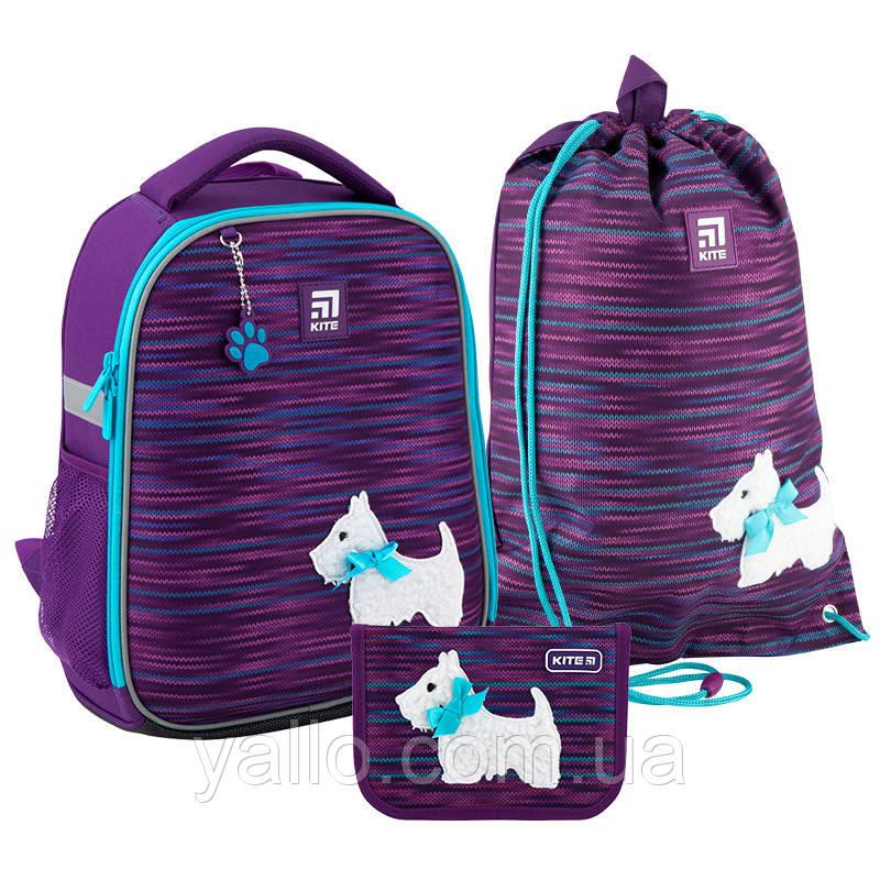Школьный набор Kite Cute puppy рюкзак + пенал + сумка SET_K20-555S-3
