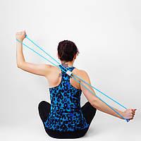 Резинка эспандер для фитнеса, цвет голубой (средний уровень нагрузки)