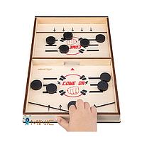 """Деревянная настольная игра хоккейный слинг для детей и взрослых WeiWei Tiger """"Быстрый хоккей"""""""
