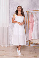 Женское летнее кружевное платье из прошвы, фото 1