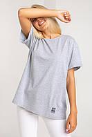 Модная женская серая футболка от Украинской фабрики XS, S, M, L
