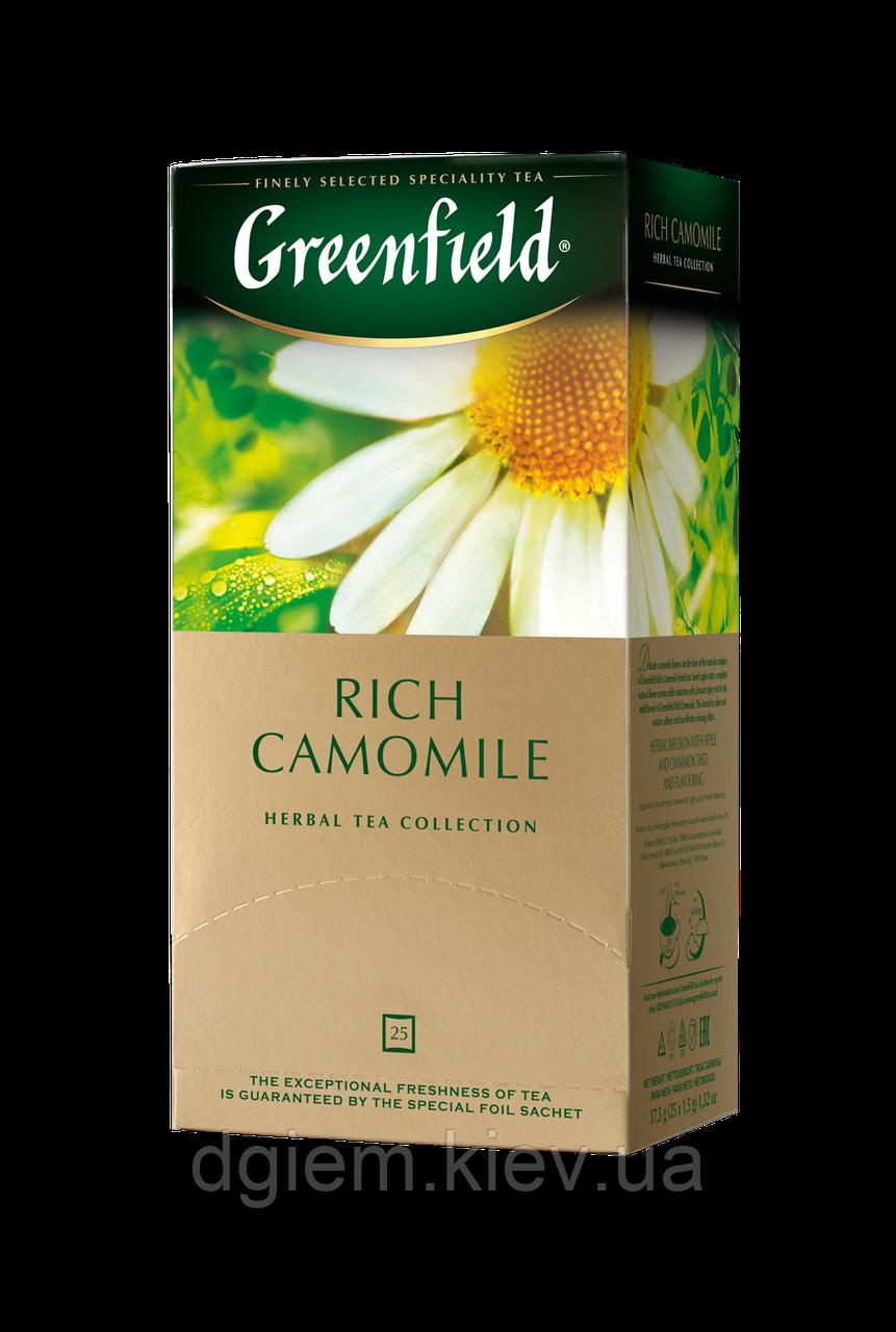 """Чай травяной RICH CAMOMILE 1,5гх25шт. """"Greenfield"""" , пакет"""