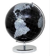 Глобус 32 см Черно - серый