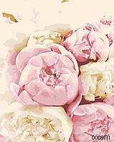 Картина за номерами Ніжні квіти, кольоровий полотно на картоні, 40*50 см, без коробки