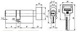 Циліндр Fuaro Z602 60 мм хром ключ-вертушка, фото 2