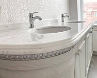 Стільниця в ванну (Bianco Ibiza), фото 1