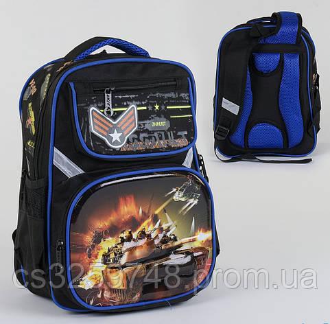 Рюкзак школьный С 36270, 2 отделения, 4 кармана, спинка ортопедическая, 3D принт, фото 2