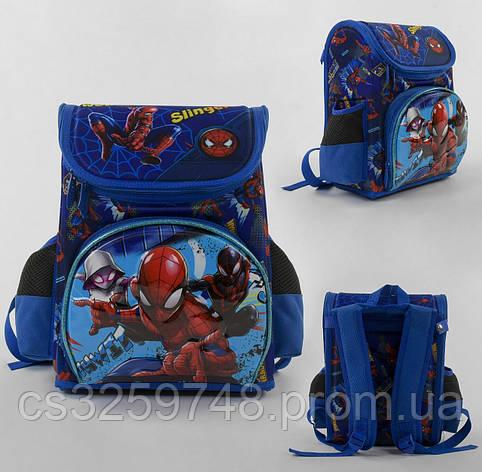 Рюкзак детский школьный каркасный Spider-Man С 43559 с 3D принтом,3 карманами и ортопедической спинкой, фото 2