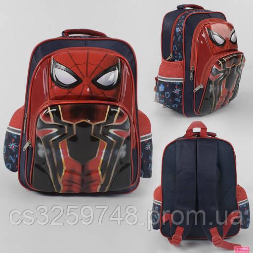 Рюкзак детский школьный Spider-Man С 43635 с 3D принтом и с 2 карманами, с дышащей спинкой