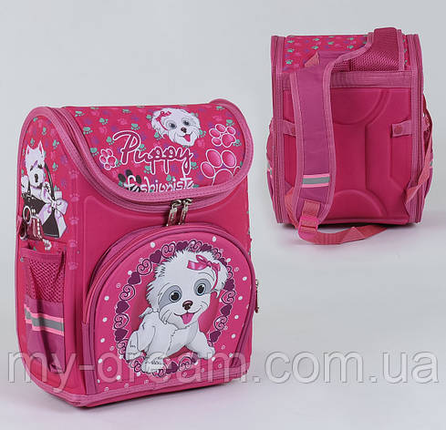 Школьный каркасный рюкзак С 36166 с ортопедической спинкой на 1 большое отделение и 3 кармана, 3D принт, фото 2