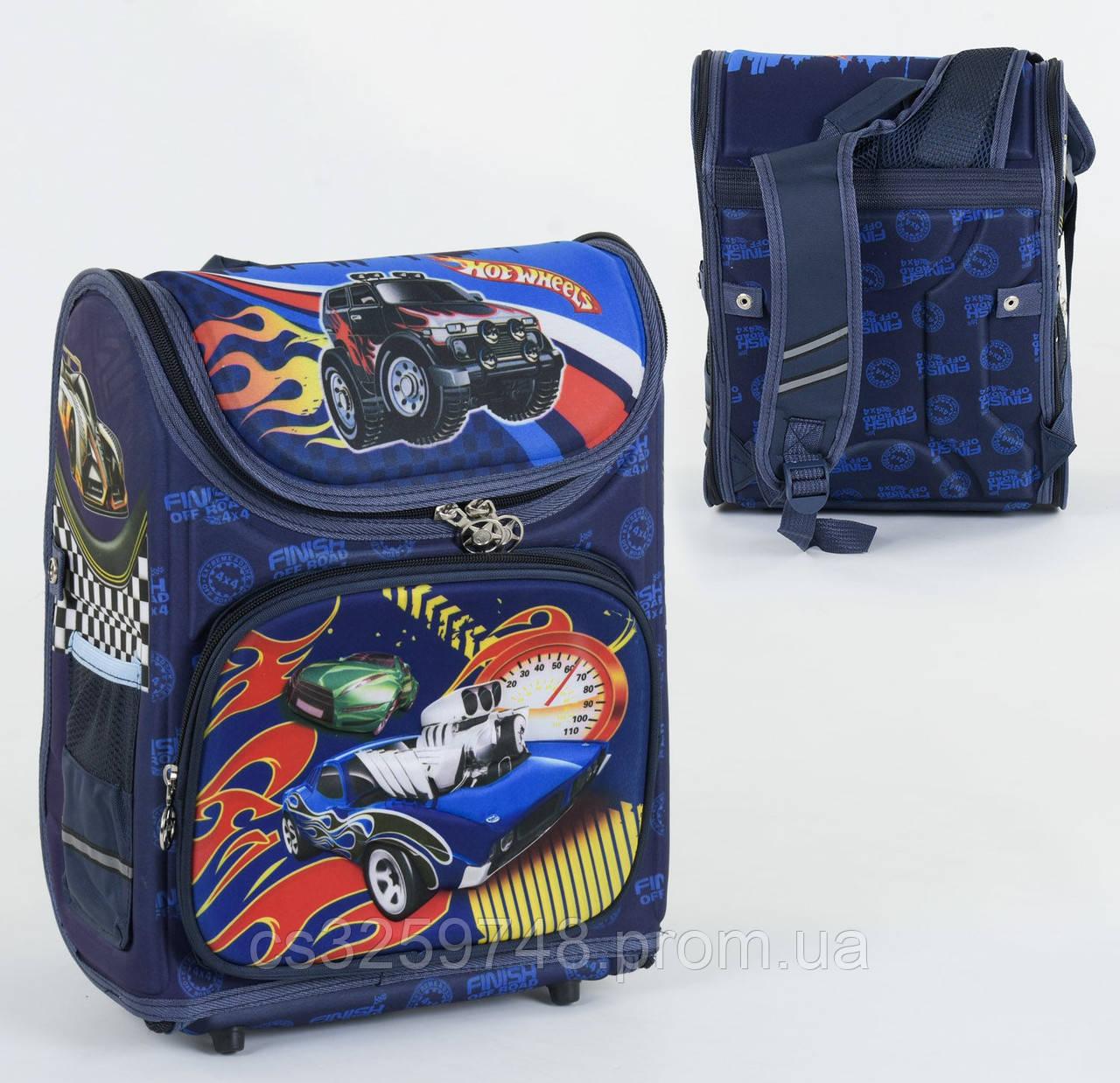 Школьный каркасный рюкзак С 36172 с ортопедической спинкой на 1 большое отделение и 3 кармана, 3D принт