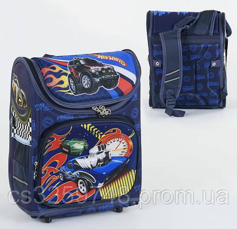 Школьный каркасный рюкзак С 36172 с ортопедической спинкой на 1 большое отделение и 3 кармана, 3D принт, фото 2