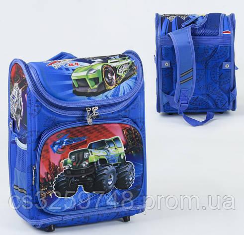 Школьный каркасный рюкзак С 36174 с ортопедической спинкой на 1 большое отделение и 3 кармана, 3D принт, фото 2
