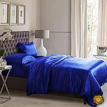 Еней-Плюс Полуторный постельный комплект A0001 Еней-Плюс, цвет: синий