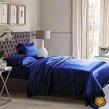 Еней-Плюс Полуторный постельный комплект A0010 Еней-Плюс, цвет: синий