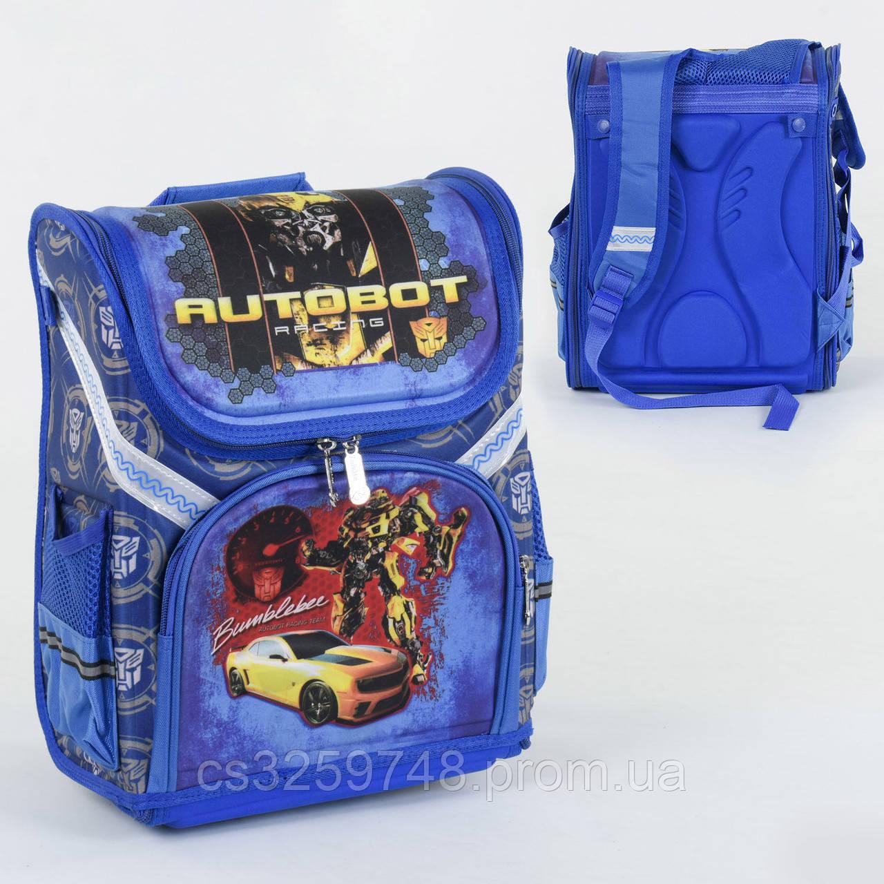 Рюкзак школьный каркасный С 36183 спинка ортопедическая 1 отделение 3 кармана с 3D рисунком