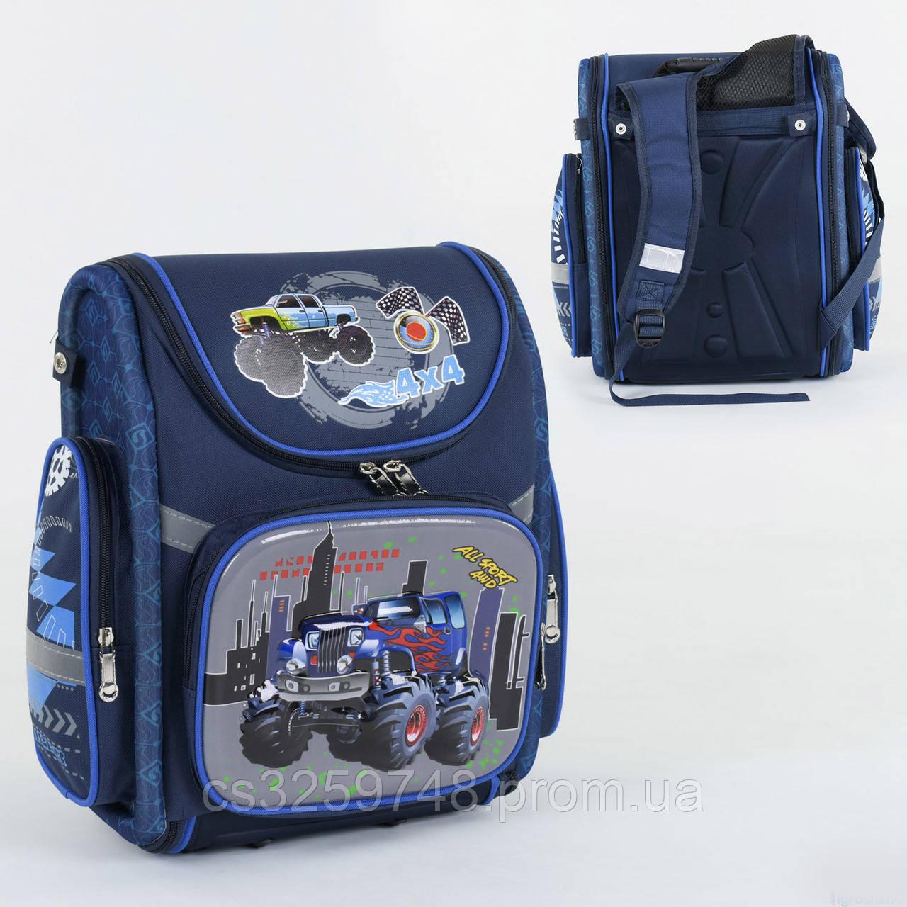 Рюкзак школьный каркасный С 36193, 1 отделение, 3 кармана, спинка ортопедическая, 3D принт