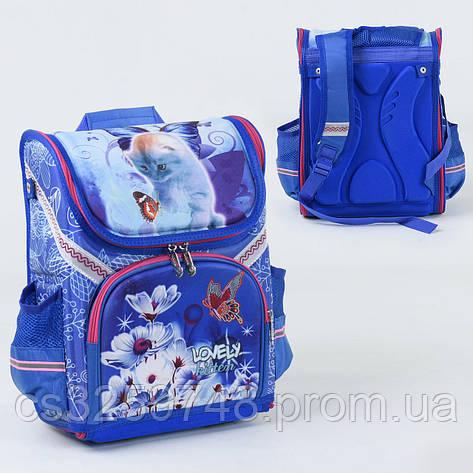 Рюкзак школьный каркасный С 36180 спинка ортопедическая 1 отделение 3 кармана с 3D рисунком, фото 2