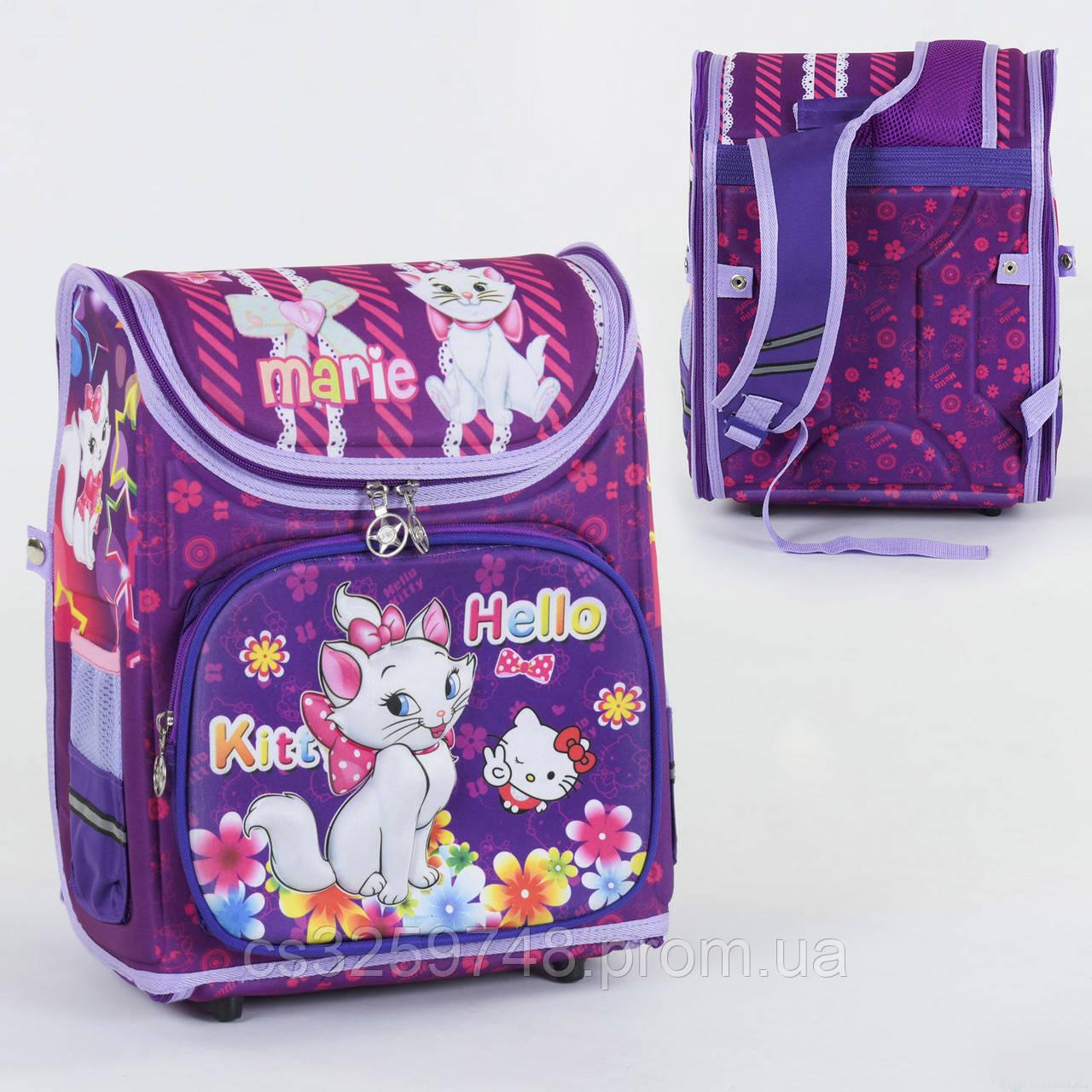 Школьный каркасный рюкзак Hello Kitty С 36176 с ортопедической спинкой на 1 большое отделение, 3D принт