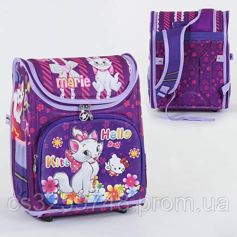 Школьный каркасный рюкзак Hello Kitty С 36176 с ортопедической спинкой на 1 большое отделение, 3D принт, фото 2