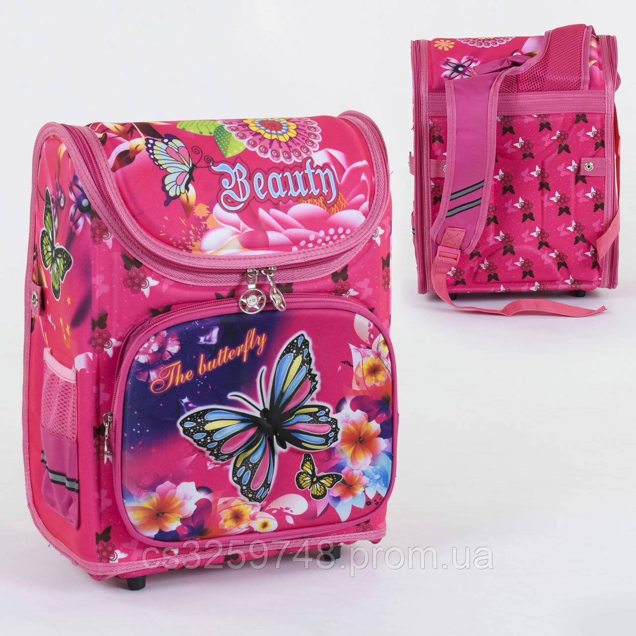 Рюкзак школьный каркасный С 36175 спинка ортопедическая 1 отделение 3 кармана с 3D рисунком
