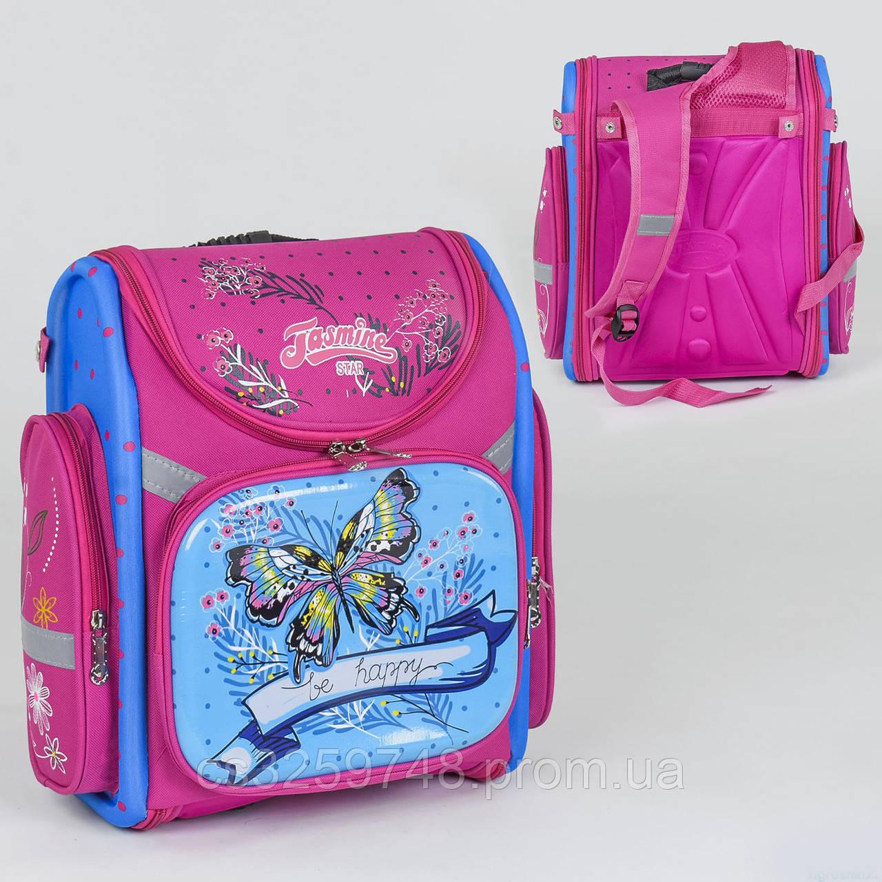 Рюкзак школьный каркасный C 36186, 1 отделение, 3 кармана, спинка ортопедическая