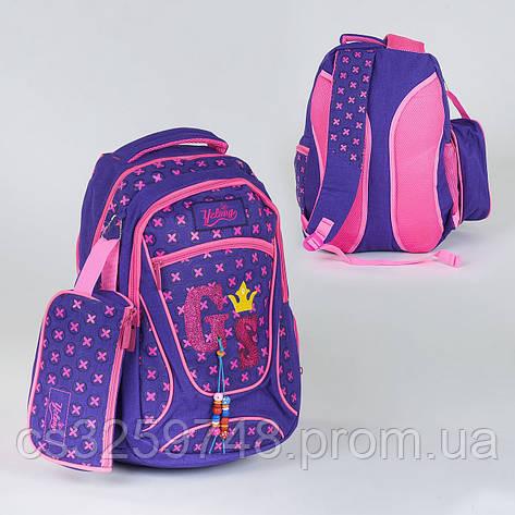 Рюкзак школьный C 36317, 3 отделения, 2 кармана, пенал, фото 2