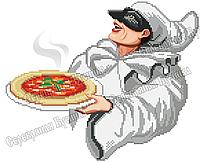 Піца Пульчинелла Схема вишивки бісером