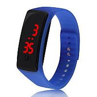 Электронные наручные часы LTL Led на силиконовом браслете blue